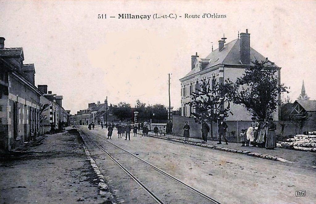 Route d'Orléans en 1900.