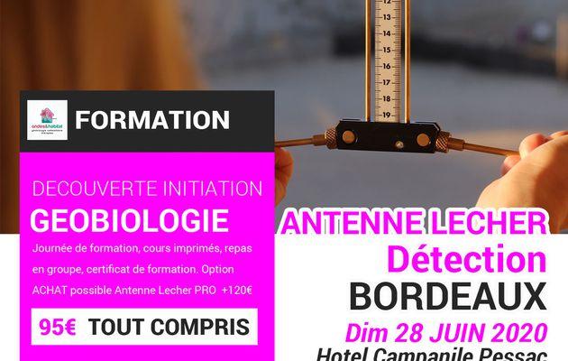 """Bordeaux Formation Géobiologie : """"Antenne Lecher Détection"""" Dimanche 28 juin2020 Bordeaux Pessac Pessac"""
