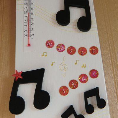 Thermomètre intérieur Notes de musique.