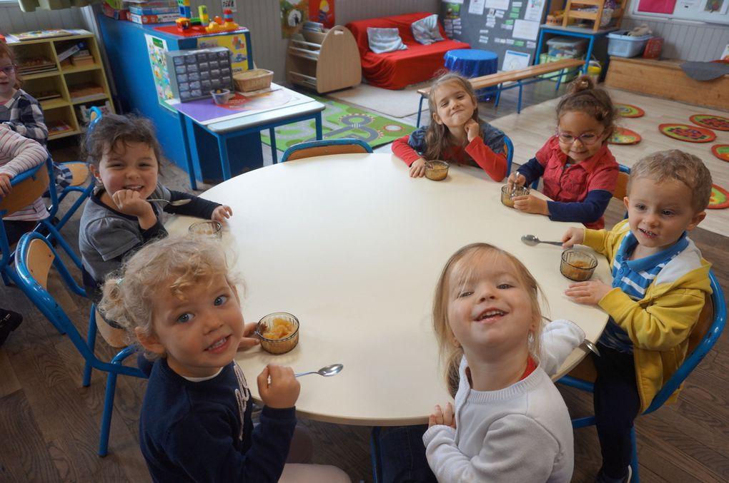 Semaine du goût pour la classe de PS-MS : Les pommes.