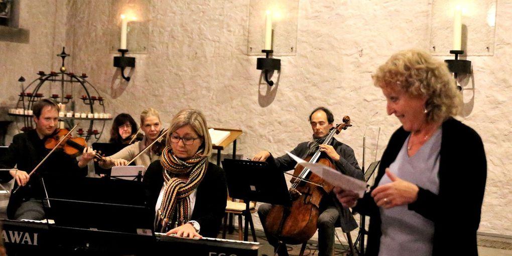 Den Chorgesang begleitete ein Lehrerensemble der Musikschule.