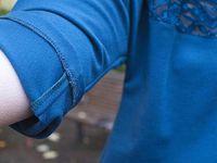 Robe jersey avec dentelle
