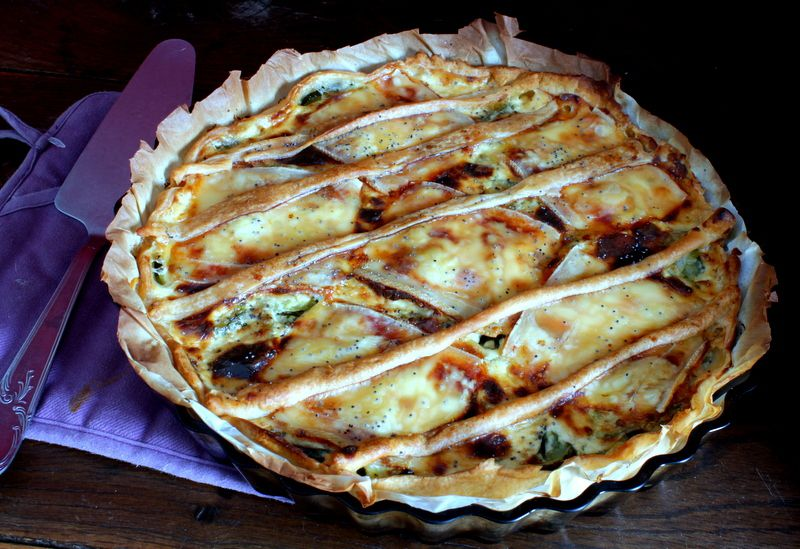 Tarte courgettes-raclette