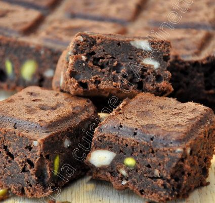 Brownies pistaches amandes
