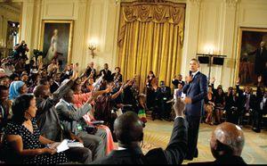 VOA - YALI 2014 : Obama reçoit 500 jeunes leaders africains