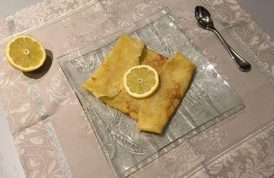 Crêpe beurre sucre citron