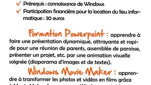 Formation aux outils multimédia de Windows du 25 au 28 octobre 2016
