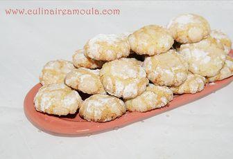 Gheriba ou macaron marocain à la semoule et à la noix de coco