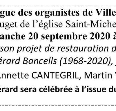 Dimanche 20 septembre, festival d'orgues