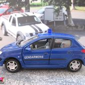 PEUGEOT 206 XS GENDARMERIE NATIONALE CARARAMA 1/43 - 206XS - car-collector.net
