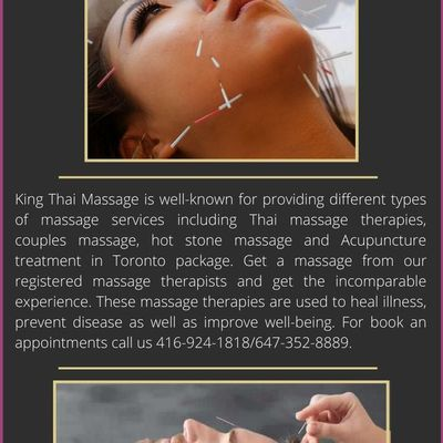 Get Acupuncture treatment in Toronto by acupuncture therapist - King Thai Massage Centre
