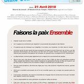 ETATS GENERAUX de la paix le 21 avril