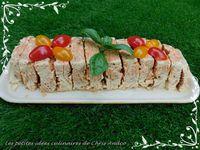 Terrine de cabillaud frais, crevettes et basilic