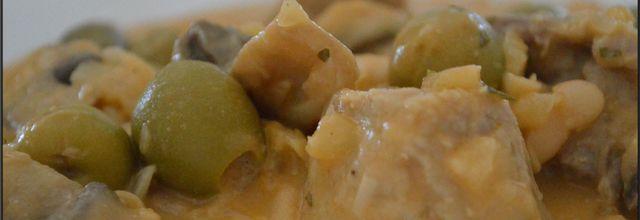 Sauté de porc à la sauce moutarde et ses haricots blancs