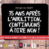 [Soutien Mumia Abu Jamal] Journée mondiale contre la peine de mort : ÉVÉNEMENT à PARIS samedi 8 octobre 2016 - Commun COMMUNE [El Diablo]