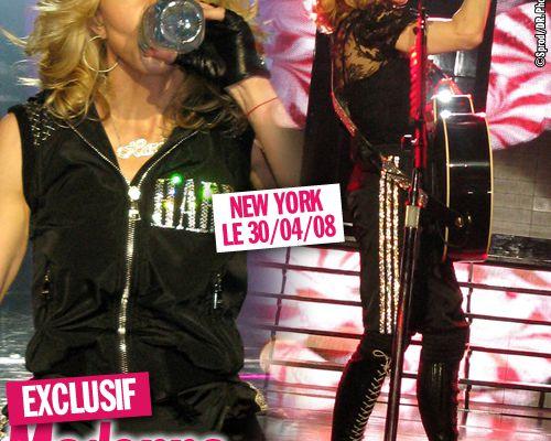 EXCLUSIF / Madonna ne boit pas que de l'eau en concert !