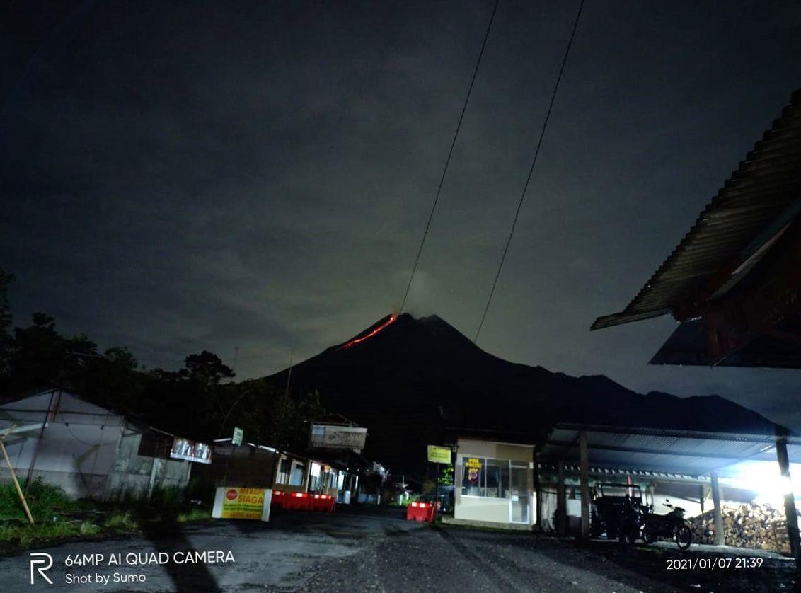 Merapi  - 07.01.2021 / 21h39 - Doc. TRC BPBD DIY