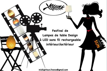 Festival de lampes de table Design sans fil LED rechargeable pour les professionnels : restaurants, hôtels...