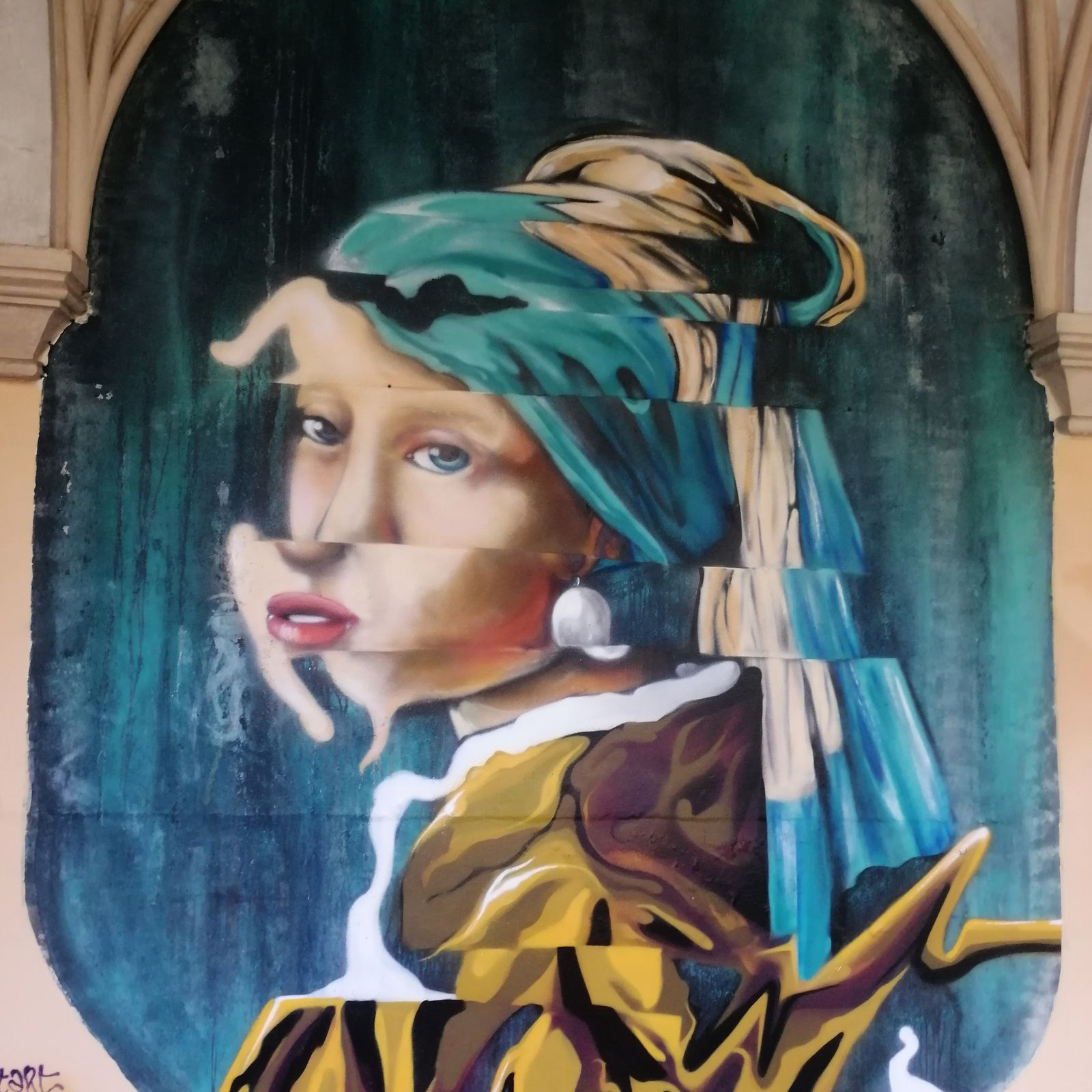 Ch'tie tarte à la rhubarbe - balade régionale à Roubaix expo street art