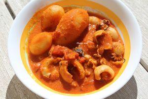 Mini-Poulpes, Sauce tomate crémée