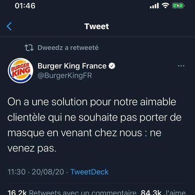 👏👏👏 ainsi chacun pourra éviter les risques du fast-food #BurgerKing France 🌭🍔🍟🥤