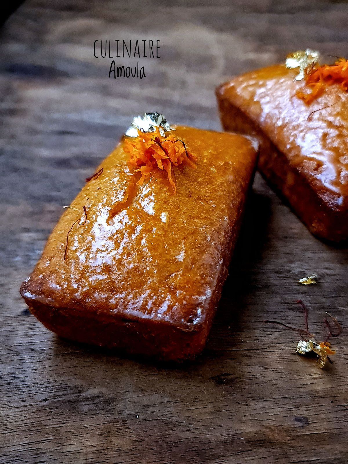 Cake financier à l'orange et au safran