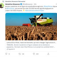 «25000 fermes communales et agroécologiques» et «120000 emplois en agriculture»: le match Piolle – Pelras