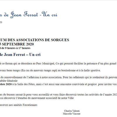 14ieme Forum des Associations le 5 septembre2020