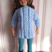 tuto gratuit poupée : robe points irlandais - Chez Laramicelle