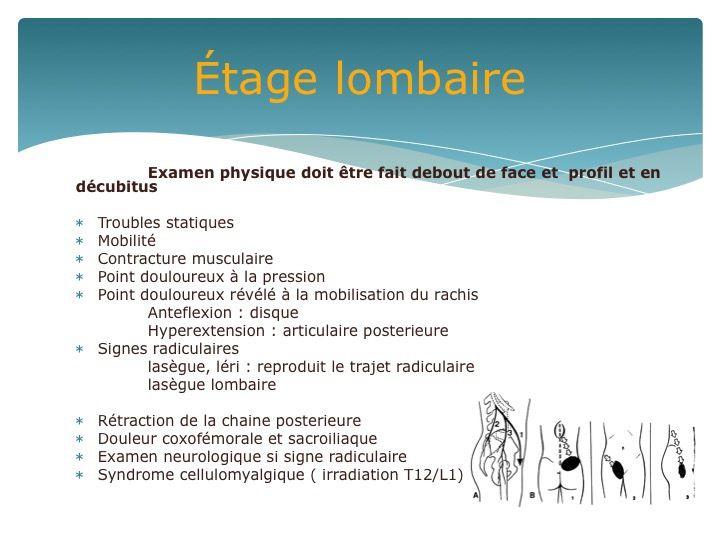 """Le """"mal de dos"""" de l'Aigu au Chronique -  DPC"""