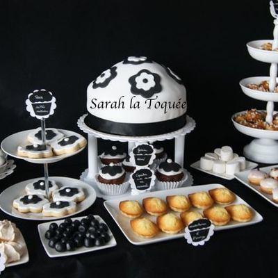 My sweet Table B&W by Sarah la Toquée