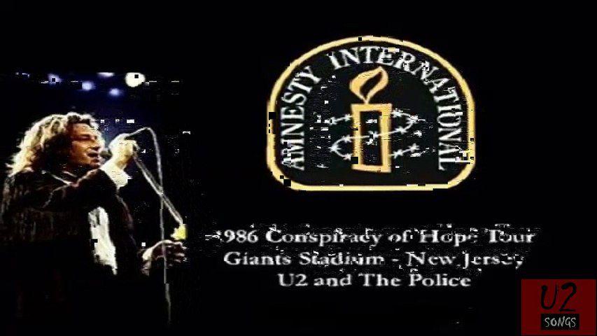 U2 -A Conspiracy of Hope Tour 1986 en vidéo concerts.