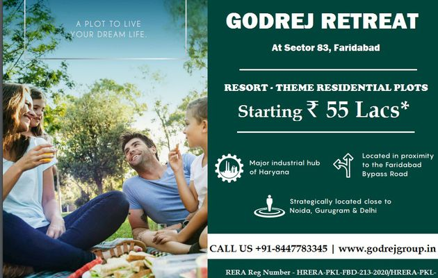 GODREJ RETREAT - A WORLD WELL-PLANNED TO LIVE THE MOST COMFORTABLE LIFE - FARIDABAD