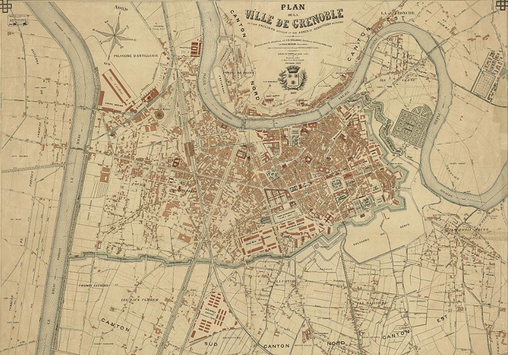 Grenoble en 1914 - Une place forte militaire avec des remparts de chaque coté