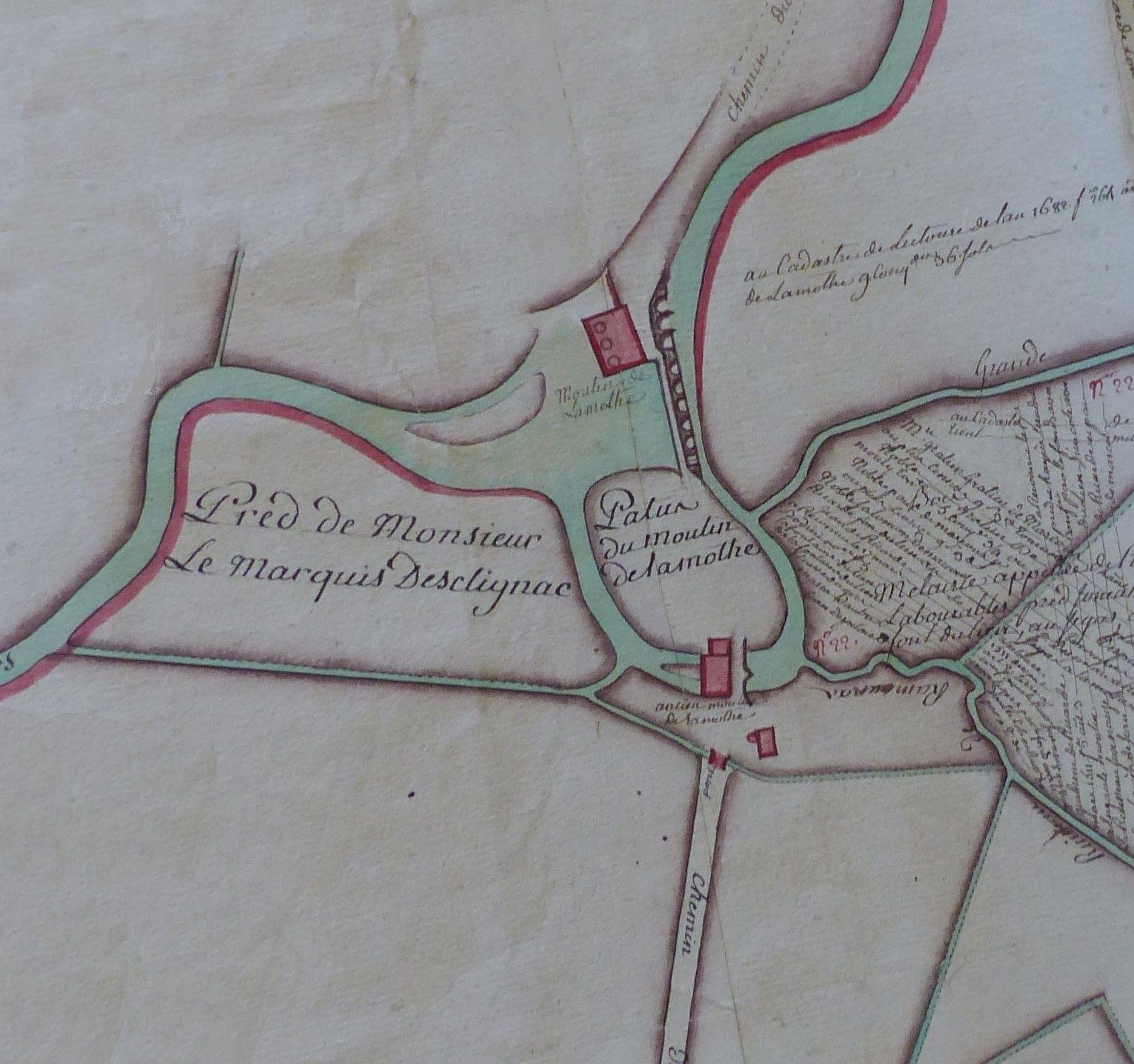 moulin de La Mothe Lamothe Lamote Lectoure société archéologique gers recensement