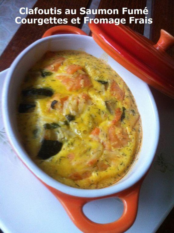 Clafoutis au Saumon Fumé Courgettes et Fromage Frais - Battle Food #63