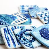 Journey into Creativity: Turquoise-blue clay tiles