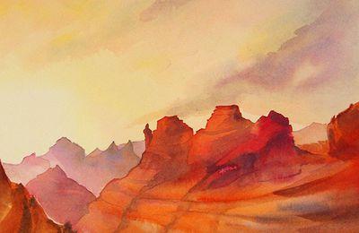 En voyage pour Sedona Arizona Isabelle Seruch Capouillez chez Carré d'artistes