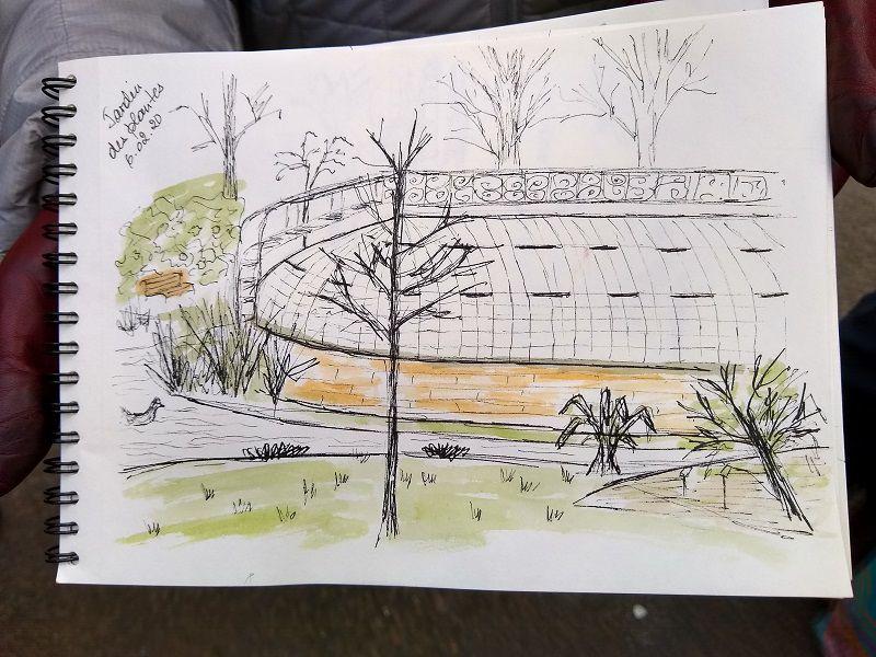 Croquis et Jardin des Plantes