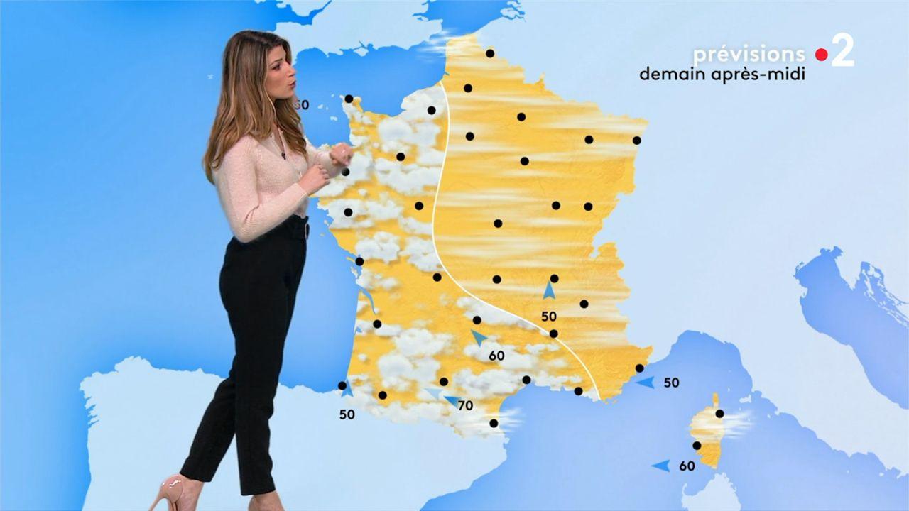 Chloé Nabédian Météo France 2 le 01.03.2021