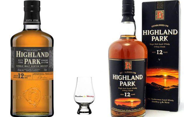 Highland Park 12Y ancienne et nouvelle génération.