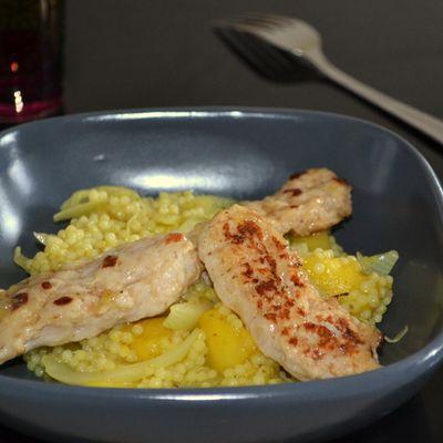 Poulet à la mangue façon couscous