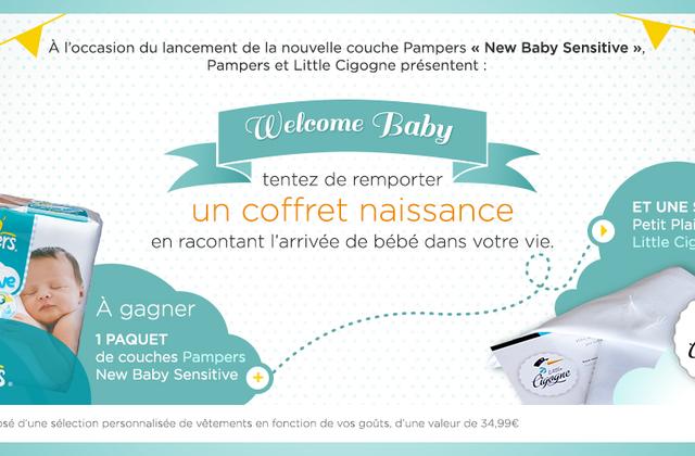 [Concours] « Welcome Baby » avec Pampers et Little Cigogne : la grande gagnante !!!