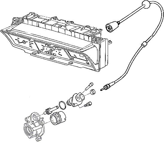 Liaison compteur de vitesse 205 GTi