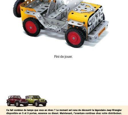Pub : Jeep a choisi de s'associer avec la marque Meccano