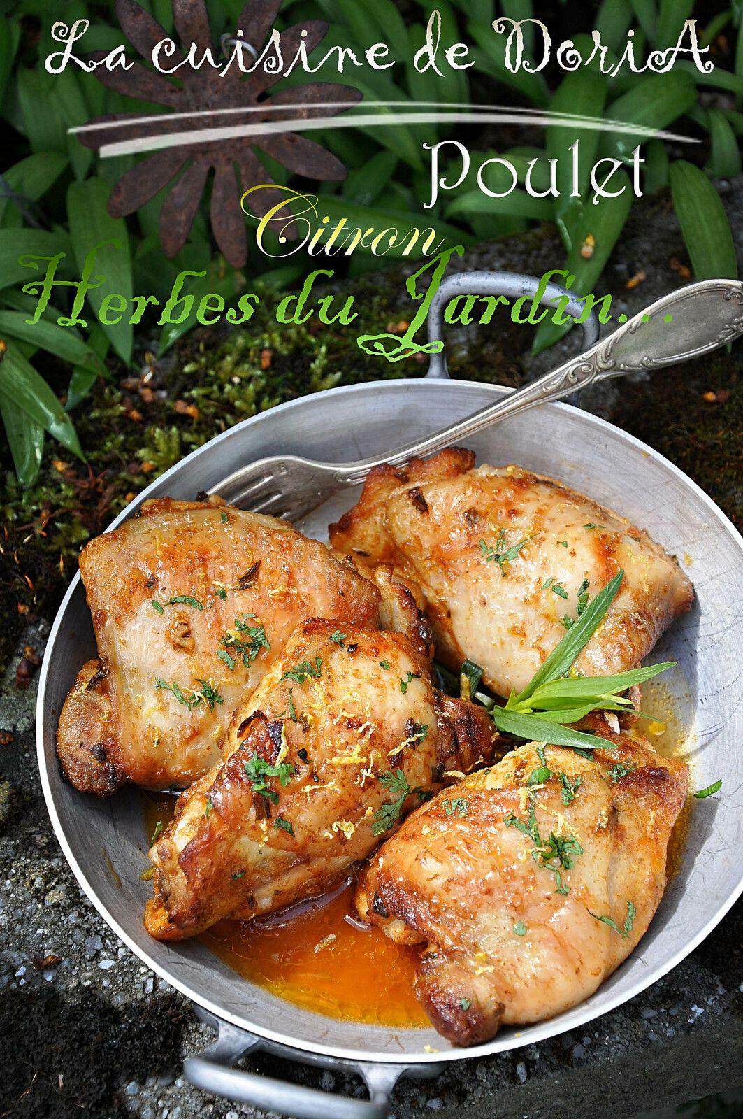 Hauts de cuisse de poulet au citron et aux herbes du Jardin...