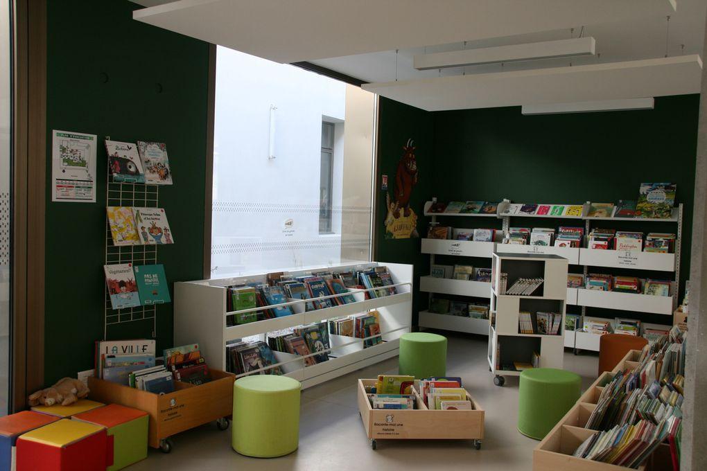 Envie de grandir, l'espace pour les 0-12 ans où ils pourront trouver des albums, des BD, des livres jeux, des imagiers et des abécédaires, des CD et des DVD, des contes, des magazines...