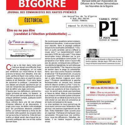 Les Nouvelles de la Bigorre numériques  n°368-2 du 25 mars 2021