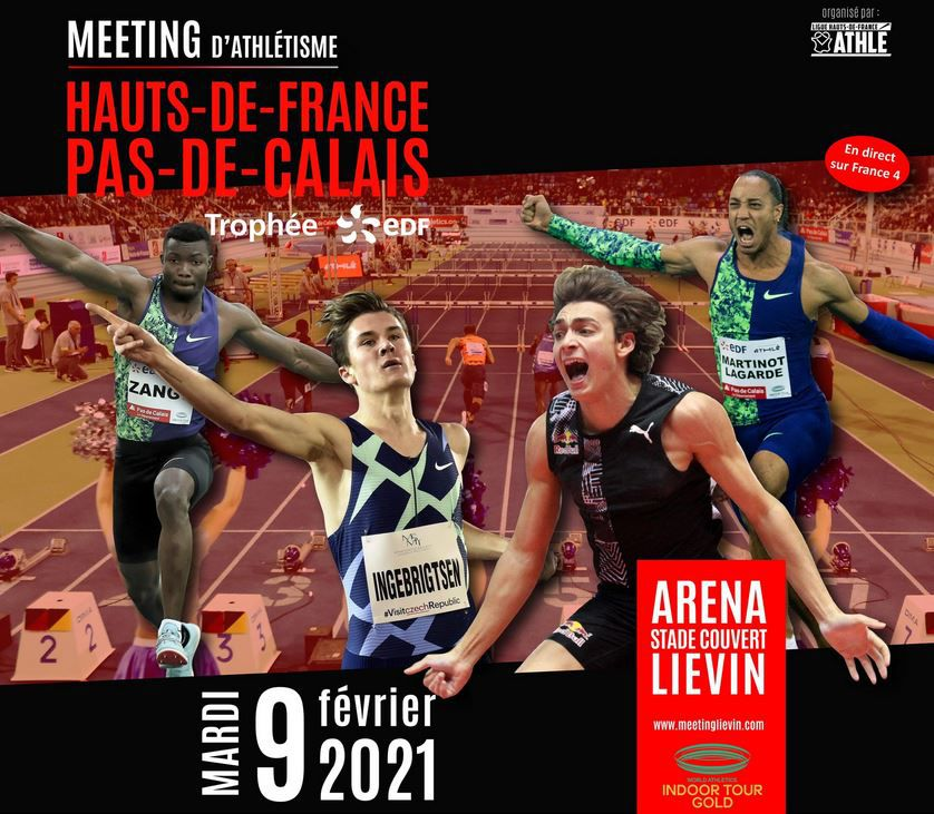 Le Meeting International de Liévin en direct ce mardi sur France 4