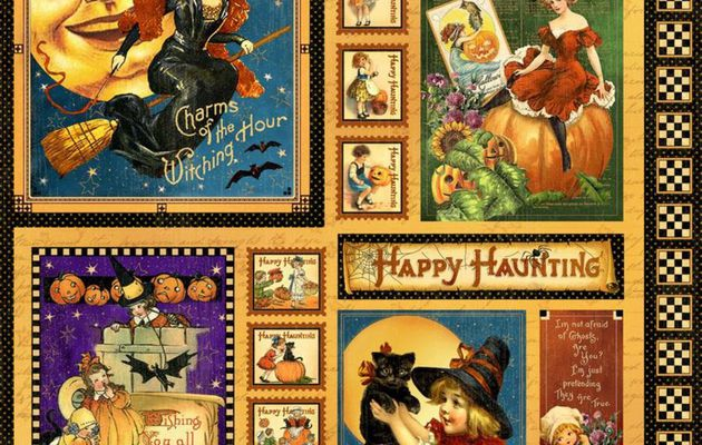 Halloween Greetings cards-Happy haunting-Happy Halloween-Halloween Labels and Papers
